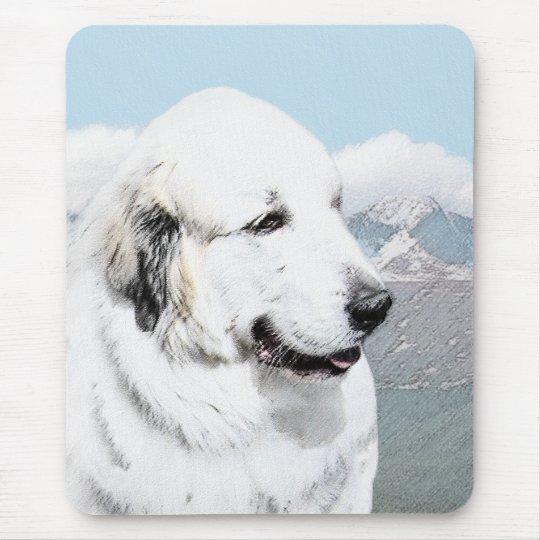 Great Pyrenees Painting - Original Dog Art Mouse Pad