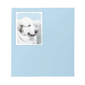 Great Pyrenees Painting - Original Dog Art Notepad