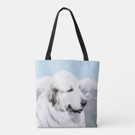 Great Pyrenees Painting - Original Dog Art Tote Bag