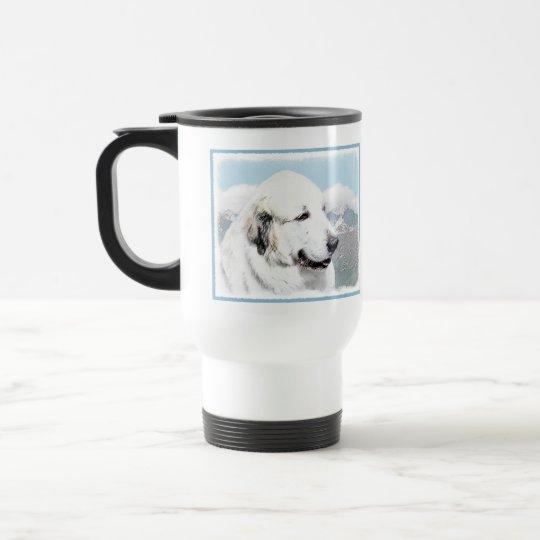 Great Pyrenees Painting - Original Dog Art Travel Mug