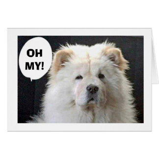 """GREAT PYRENEES SAYS """"HAPPY 40TH"""" CARD"""