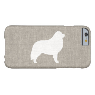 Great Pyrenees Silhouette Faux Linen Style Barely There iPhone 6 Case