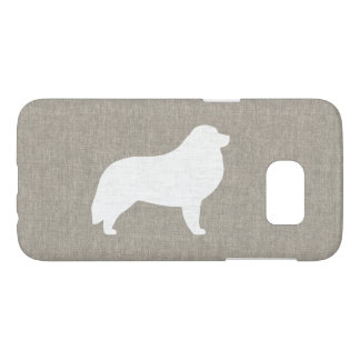 Great Pyrenees Silhouette Faux Linen Style Samsung Galaxy S7 Case