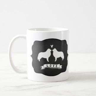 Great Pyrenees Silhouettes Love Coffee Mug