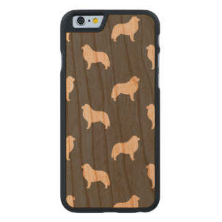 Great Pyrenees Silhouettes Pattern Carved Cherry iPhone 6 Case