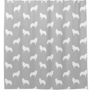 Great Pyrenees Silhouettes Pattern Grey
