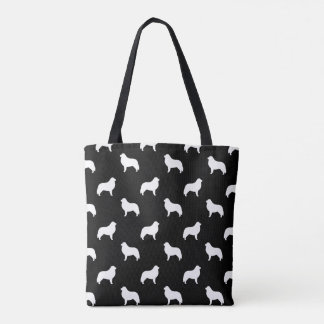Great Pyrenees Silhouettes Pattern Tote Bag