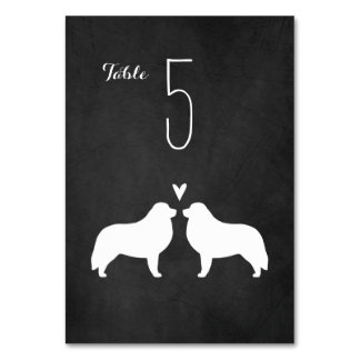 Great Pyrenees Silhouettes Wedding Table Card