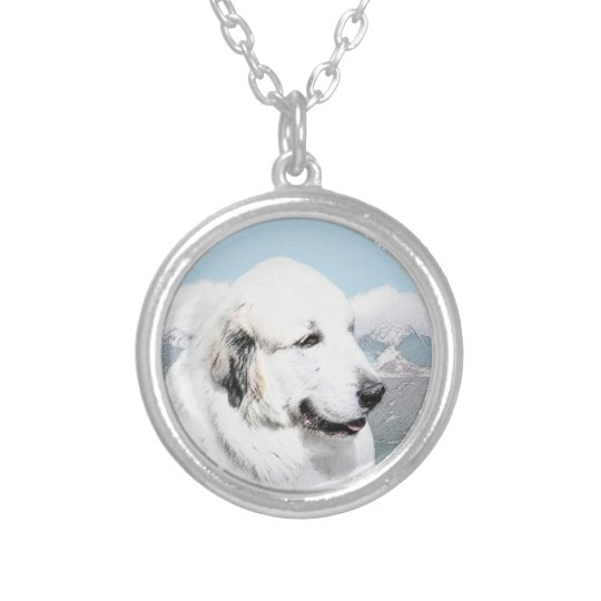 Great Pyrenees Silver Plated Necklace