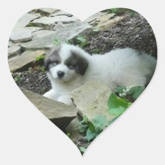 Great Pyrenees Sweet Puppy Heart Sticker