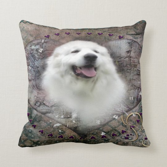 "Great Pyrenees Throw Pillow - ""Beautiful Benny"""