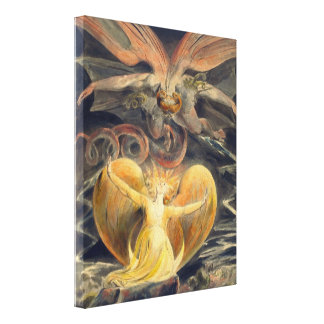 Great Red Dragon by William Blake Canvas Print