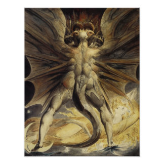 Great Red Dragon by William Blake Poster