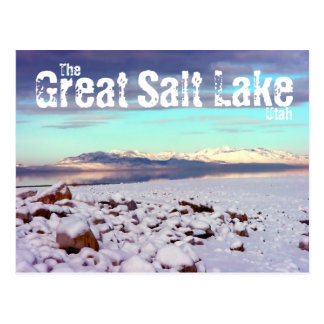 Great Salt Lake Utah Winter Landscape Postcard