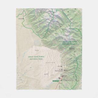 Great Sand Dunes (Colorado) fleece blanket