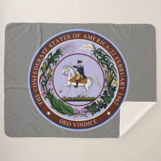 GREAT SEAL of the CONFEDERACY Sherpa Blanket