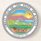 Great seal of the state of Kansas Coaster