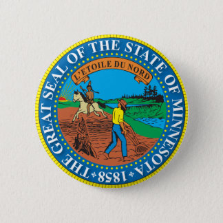 Great seal of the state of Minnesota 2 Inch Round Button