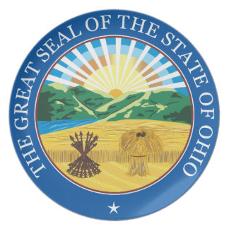Great seal of the state of Ohio Dinner Plates