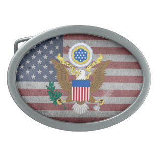 Great seal of United States Oval Belt Buckles