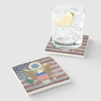 Great seal of United States Stone Coaster