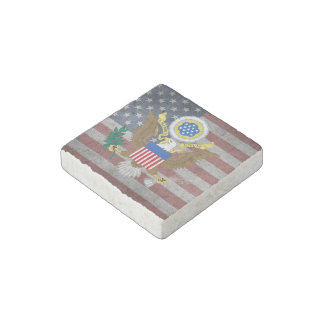 Great seal of United States Stone Magnets