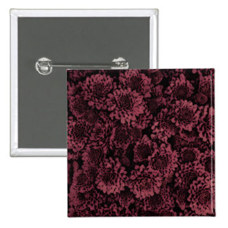 great shimmering flowers pink(I) 2 Inch Square Button
