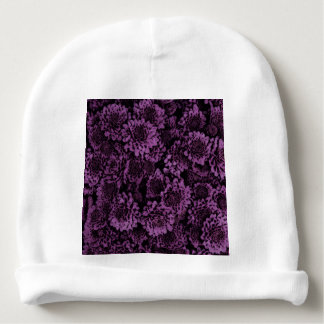 great shimmering flowers purple (I) Baby Beanie