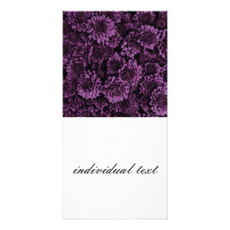 great shimmering flowers purple (I) Picture Card