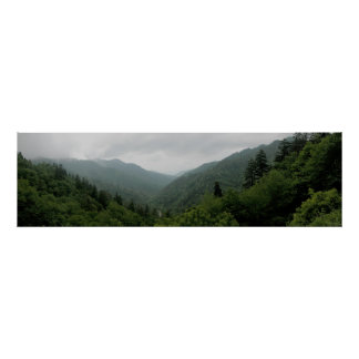 Great Smokey Mountains National Park Panormaic 2 Poster