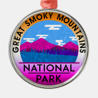 Great Smoky Mountain National Park Tennessee Metal Ornament