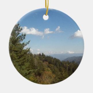 Great Smoky Mountain Vista 3 Ceramic Ornament