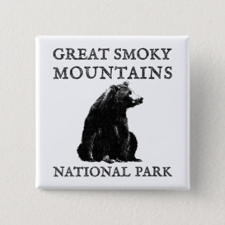 Great Smoky Mountains National Park 2 Inch Square Button