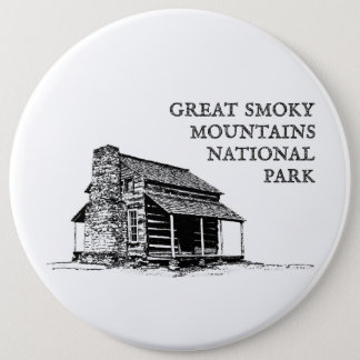 Great Smoky Mountains National Park 6 Inch Round Button