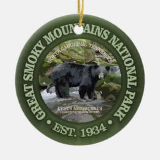 Great Smoky Mountains National Park Ceramic Ornament
