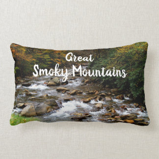 Great Smoky Mountains National Park Creek/River Lumbar Pillow