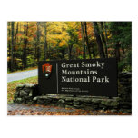Great Smoky Mountains National Park Sign Post Card