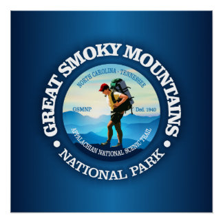 Great Smoky Mountains NP (Hiker C) Perfect Poster