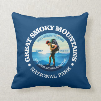 Great Smoky Mountains NP (Hiker C) Throw Pillow