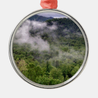 Great Smoky Mountains Silver-Colored Round Ornament