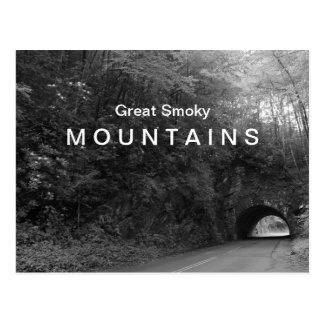 Great Smoky Mountains tunnel black & white Postcard