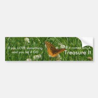 Great Spangled Fritillary Butterfly Bumper Sticker