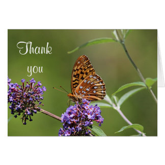 Great spangled fritillary butterfly card