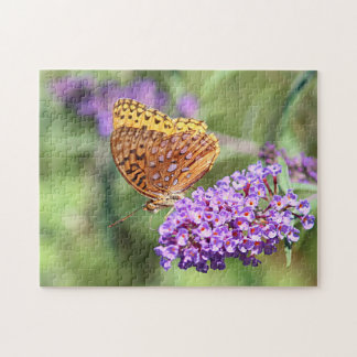 Great spangled fritillary butterfly profile puzzle