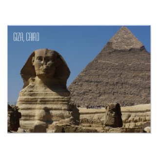 Great Sphinx Statue Giza Cairo Egypt Souvenir Photo Print