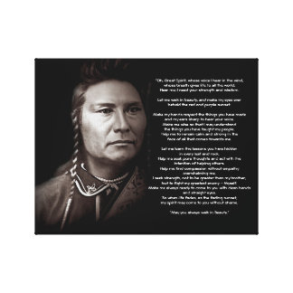 Great Spirit Ancient Prayer quote Canvas Print