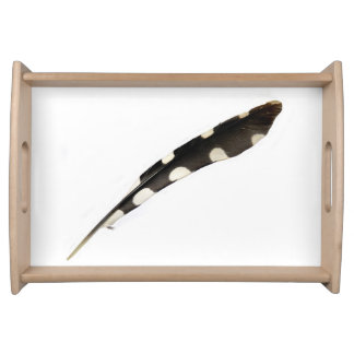 Great Spotted Woodpecker Feather Serving Tray