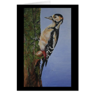 Great Spotted Woodpecker Notecard