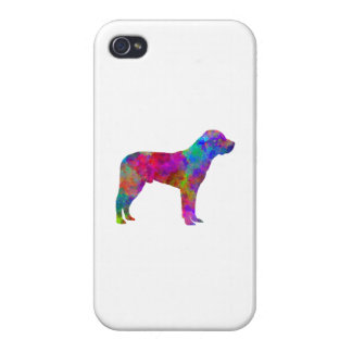 Great Swiss Mountain Dog in watercolor Case For The iPhone 4