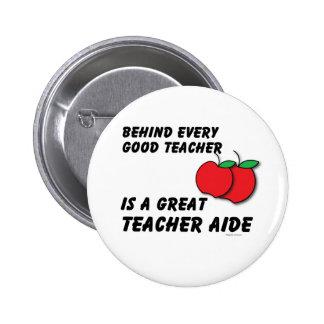 Great Teacher Aide 2 Inch Round Button